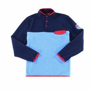 Club Room Mens Sweater Blue Red Size Large L Pocke
